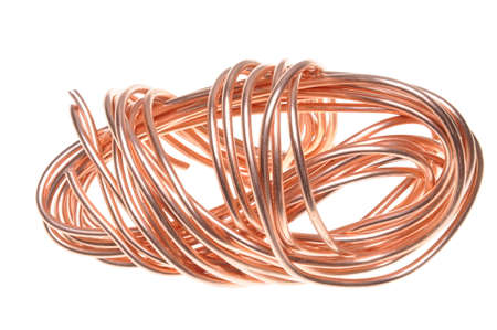 copper wire: Copper wire isolated on white background