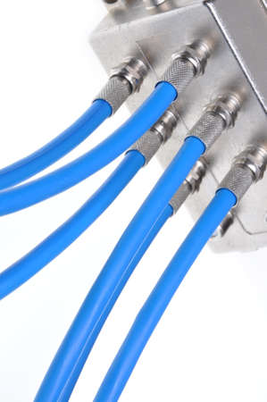 splitter: Coaxial cables with tv splitter
