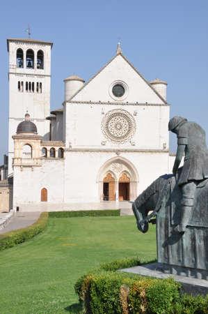 assisi: Basilica of St. Francesco Assisi, Italy Stock Photo