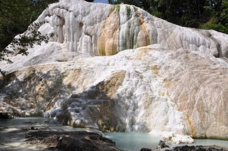 orcia: Terme San Filippo, most spectacular thermal areas in Tuscany, in the province of Siena and inside the Orcia Valley Park, Italy Stock Photo