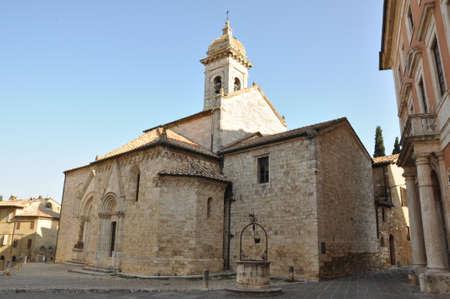 san quirico d'orcia: Church in San Quirico dOrcia, Tuscany, Italy