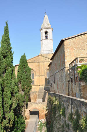 pienza: Pienza Duomo, Tuscany Italy