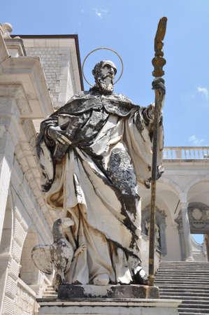 religious habit: Sculpture St. Benedict Abbey at Monte Cassino