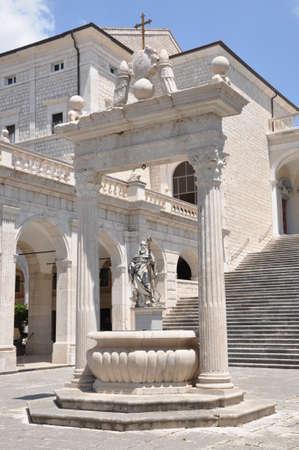 benedict: Sculpture St. Benedict Abbey at Monte Cassino