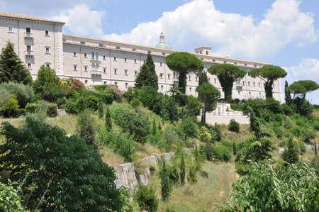 benedictine: Benedictine cloister of Monte Cassino in Italy Stock Photo