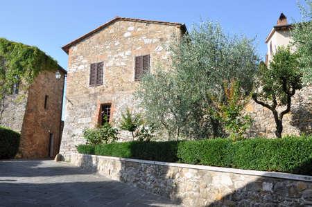 san quirico d'orcia: Town San Quirico dOrcia of southern Tuscany