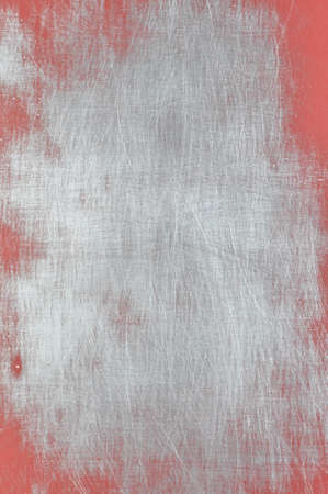 red metal: Red and gray metal background, texture Stock Photo
