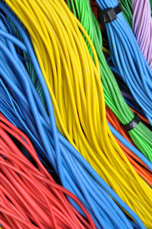 multicore: Colored electrical cables