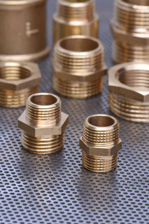 metal parts: Brass Fittings for Water and Gas