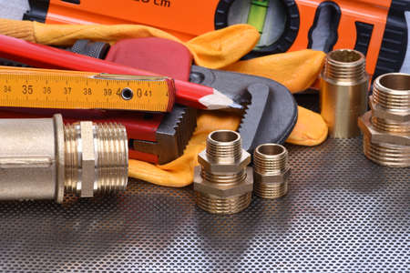 Tools to work on heating systems and plumbing