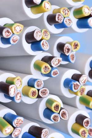 cables electricos: Grupo de cables eléctricos de cerca