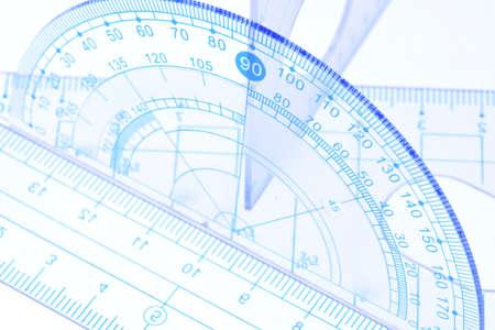 nombres: protractor Transparent, r�gle et outils de mesure carr�s