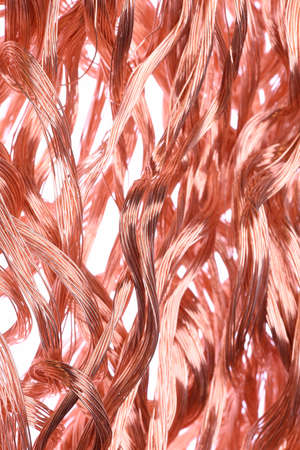 raw materials: Copper wire concept of industry development and market of raw materials Stock Photo