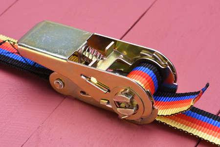 ratchet: Ratchet straps for cargo Stock Photo