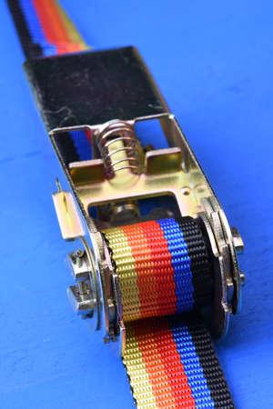 ratchet: Ratchet straps on blue background