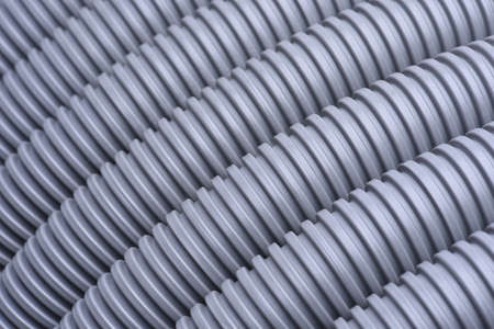 plastic conduit: Corrugated pipe for installation of electrical cable