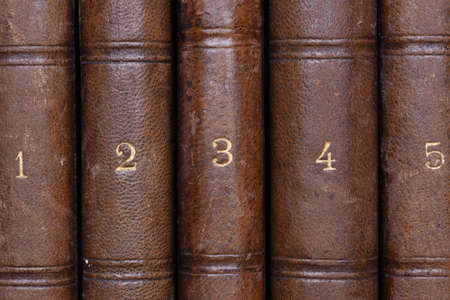antique books: Group Of Old Antique Books Numbered