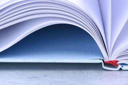 open notebook: Closeup of an open notebook