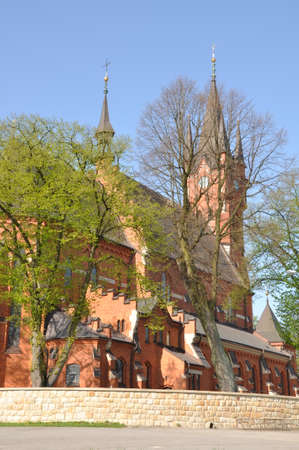 martyr: Basilica of St. Stanislaus Bishop and Martyr in Szczepan?w Poland Stock Photo