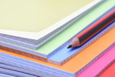 writing materials: Exercise books and pencil