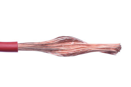 copper wire: Electric copper wire isolated on white background