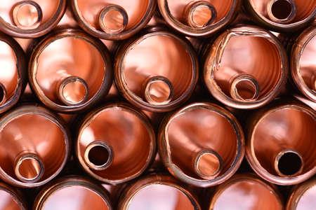 copper pipe: Copper pipe Scrap Closeup