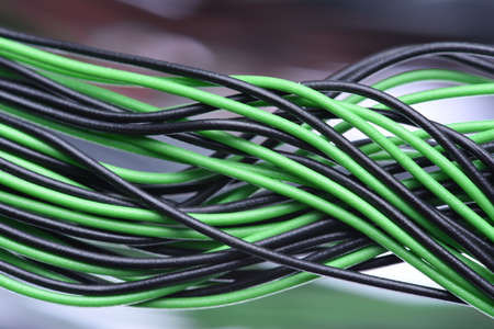 cables electricos: Closeup of Electric Cables Foto de archivo