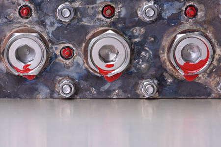 machine part: Machine Part on Metal Table