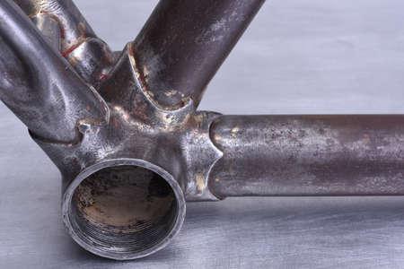 Restoring detail of old steel bike