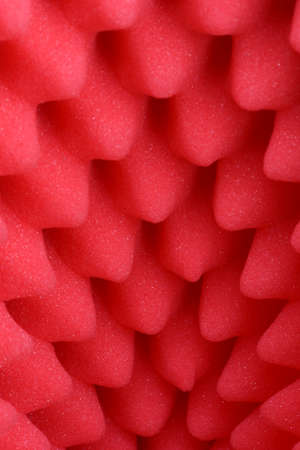 Red foam acoustic, safe packaging material Stock Photo
