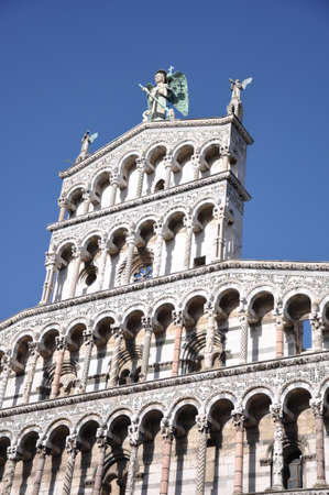 Church San Michele in Lucca, Tuscany, Italy, Europe