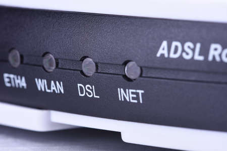 DSL internet router close-up
