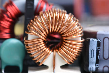 Inductor copper coil on circuit board