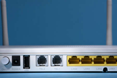 Wireless router close-up