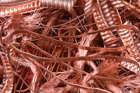 Closeup of copper wire raw materials Stok Fotoğraf