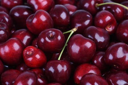 Sweet cherry fruit closeup