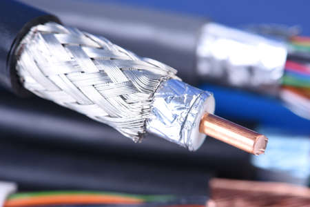 Coaxial cable close-up