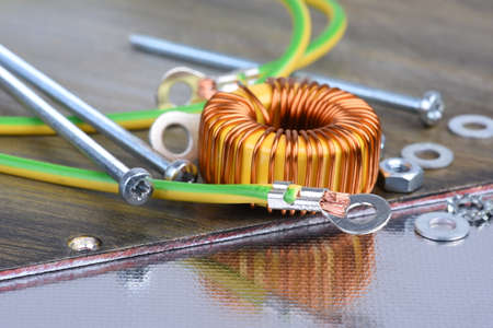 Copper coil electronics industry component