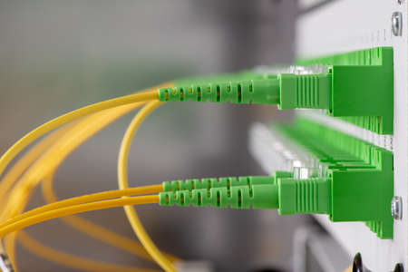 Network data center with fiber optical cables