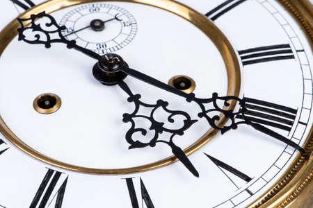 Closeup of vintage wall clock Imagens - 123305674