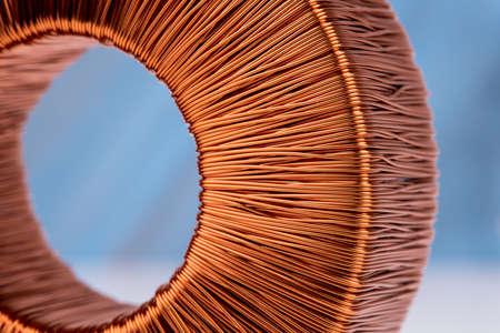 Makro des Magnetfelds der Kupferspule coil