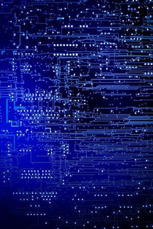 Fond de carte mère de circuit numérique bleu