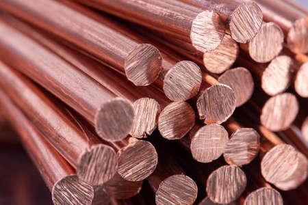 Pile of Scrap Copper Rod Reklamní fotografie