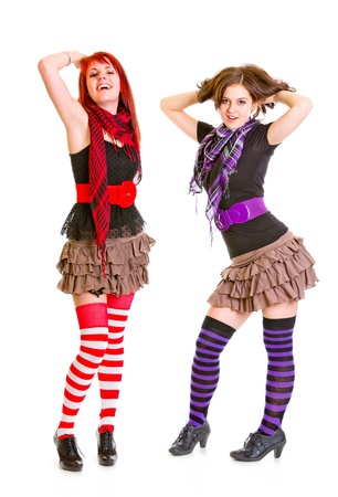 Two young girls  posing together Stock Photo - 11640405