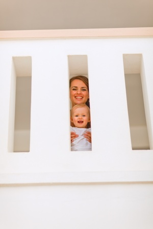 Portrait of mother with cute baby having fun Stock Photo - 11419588