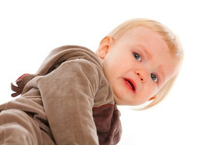 baby huilen: Portret van huilende baby