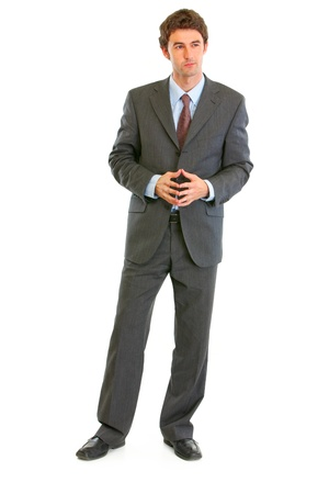 certitude: Full length portrait of confident modern businessman