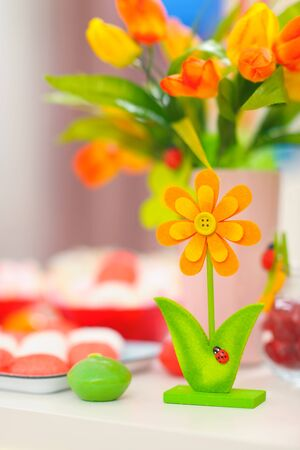 Closeup on table decorated for celebration Stock Photo - 12356485