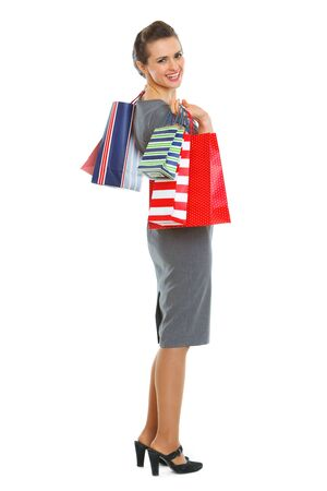 Smiling woman with shopping bags Stock Photo - 12354392