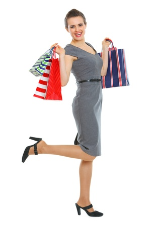 Happy woman with shopping bags Stock Photo - 12354543